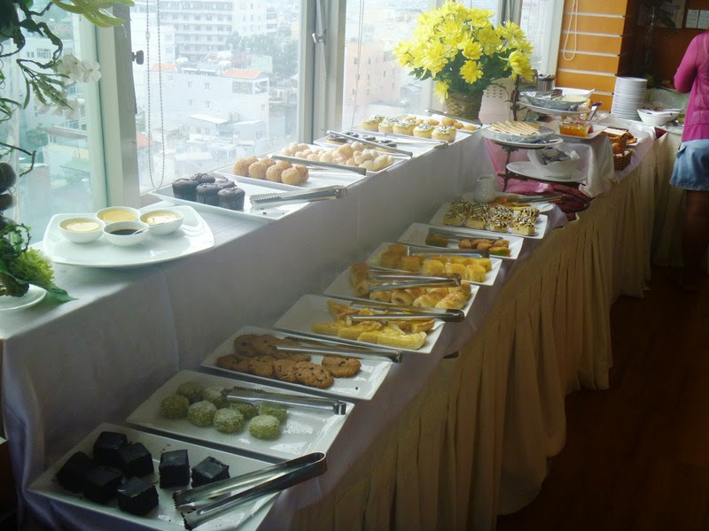 The breakfast buffet at the 12th floor restaurant
