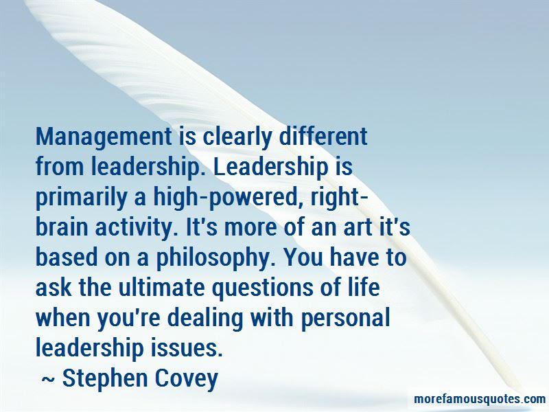 Quotes About Management Vs Leadership Top 39 Management Vs