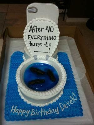 Funny 40th Birthday Cake: This funny 40th birthday cake