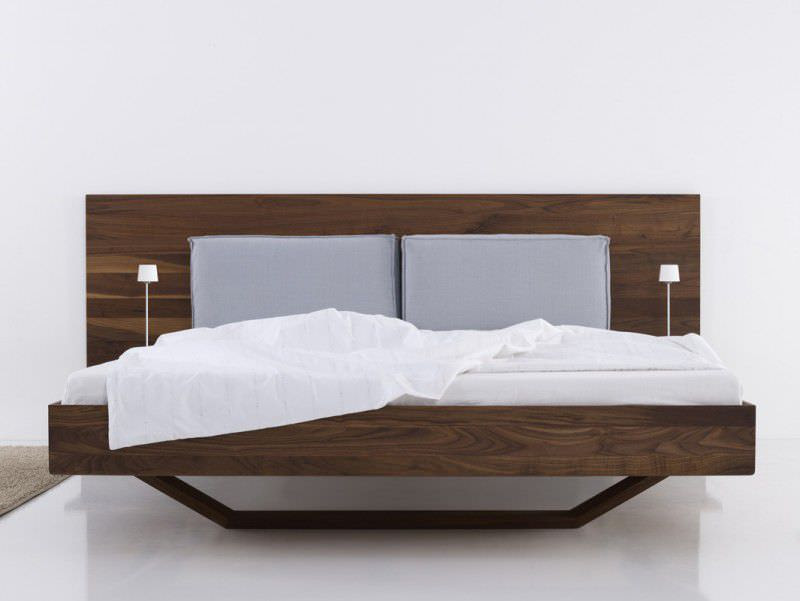 Contemporary wooden double bed - B15 by Bernhard Müller - More Moebel