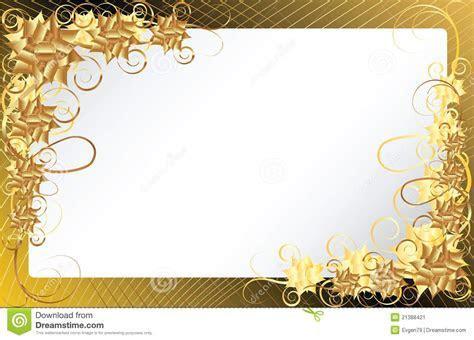 Gold Floral Frame Background Stock Image   Image: 21388421