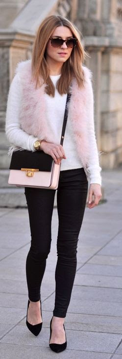 River Island Pink Faux Fur Vest by Make Life Easier