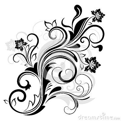 Pictures Of Black And White Floral Design Patterns Kidskunstinfo