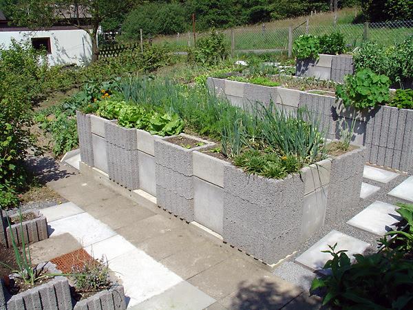 Concrete Raised Garden Bed,