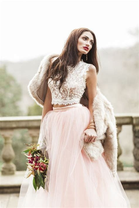 30 Jaw Droppingly Crop Top Two piece Wedding Dresses