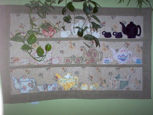 murale Café - wall quilt Coffee by regina.qc81