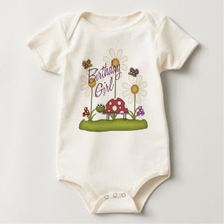 Girl Birthday Bugs shirt