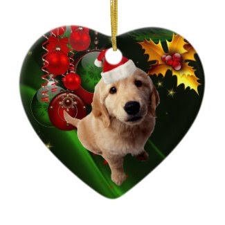 Ornament Christmas Dog With Santa Hat