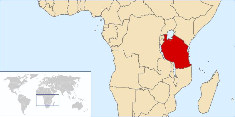 Localización de la Garganta de Olduvai y Laetoli