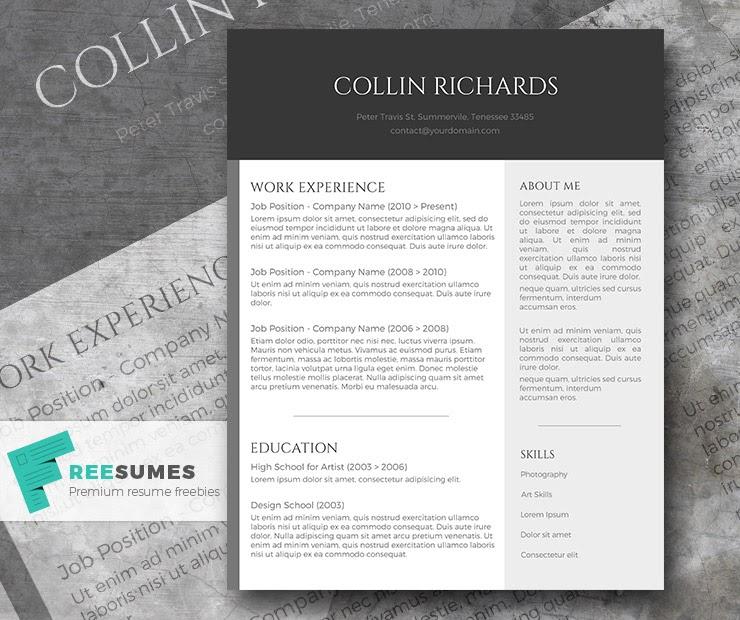 Modern Simple Resume Template Free
