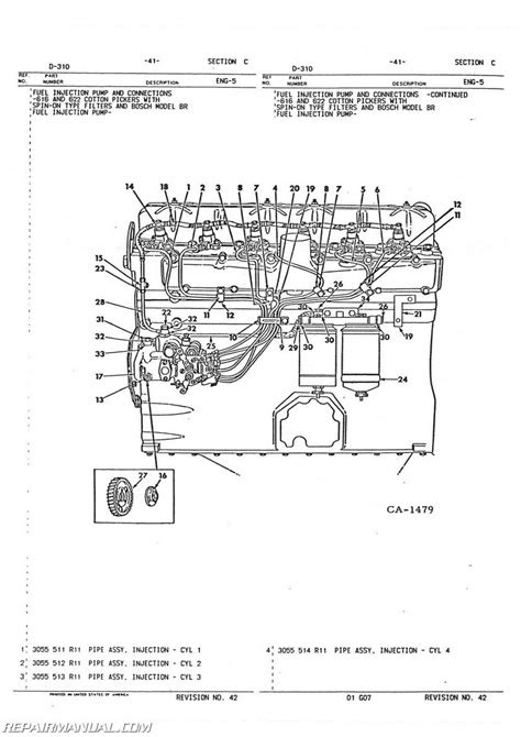 International Harvester 5088 5488 Diesel Engine Parts Manual