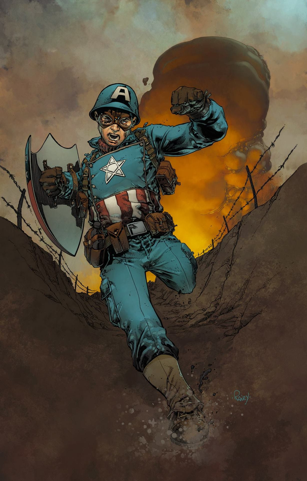 Captain America by Tom Raney, colours by Mike Spicer