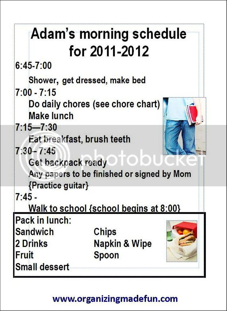 Kids - Chore Charts and SchedulesOrganizing Made Fun: Kids - Chore ...