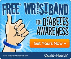 FREE Diabetes Awareness Wristband!   Click here for details...