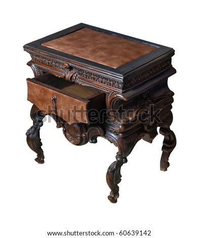 Bedside Table With Open Drawer Stock Photo 60639142 : Shutterstock
