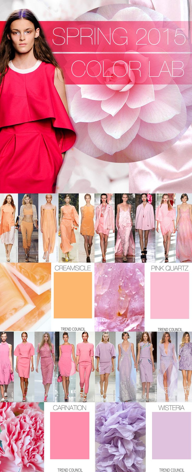 Trend Council: Spring 2015 Color Lab. We're loving the pastel shades!