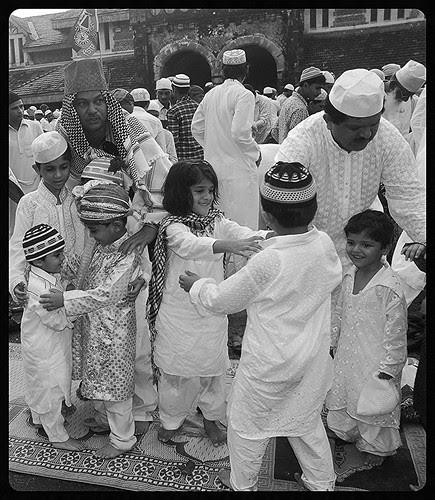Eid Mubarak Hugging Pictures Set Up For Media by firoze shakir photographerno1