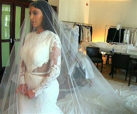 Kim Kardashian's Wedding Dress Fitting Went Like This