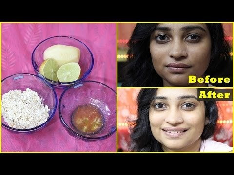 NATURAL Facial at HOME in 10 Minutes for Instant Glowing, BRIGHT