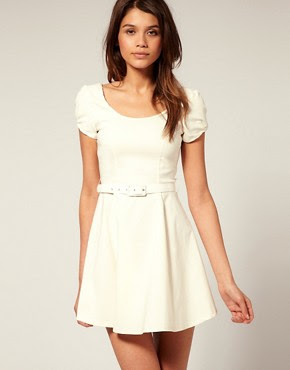 Image 1 of ASOS Belted  Dress with Scoop Neck