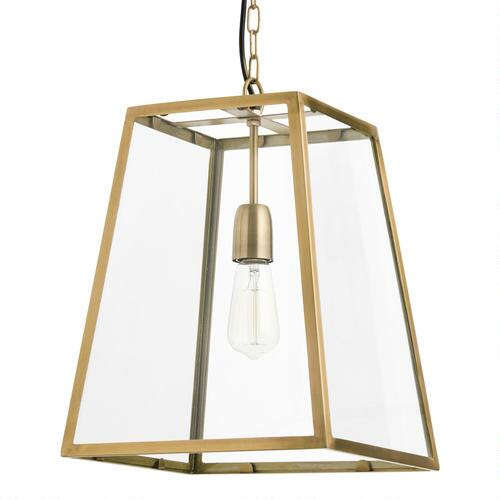 Four-Sided Glass Hanging Pendant Lantern