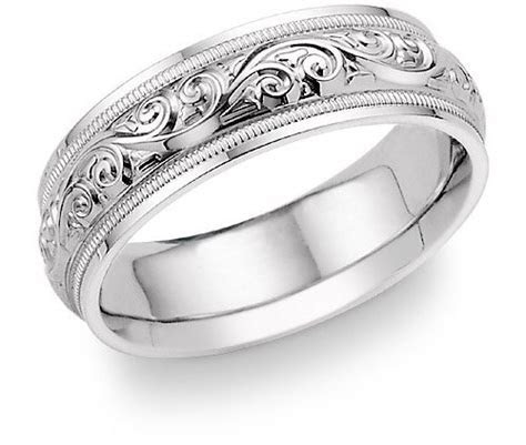Platinum Wedding Bands: Paisley Platinum Wedding Band