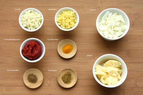 Basis voor Indische currypasta