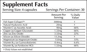FISH COLLAGEN - 2,000MG TABLETS FACTS