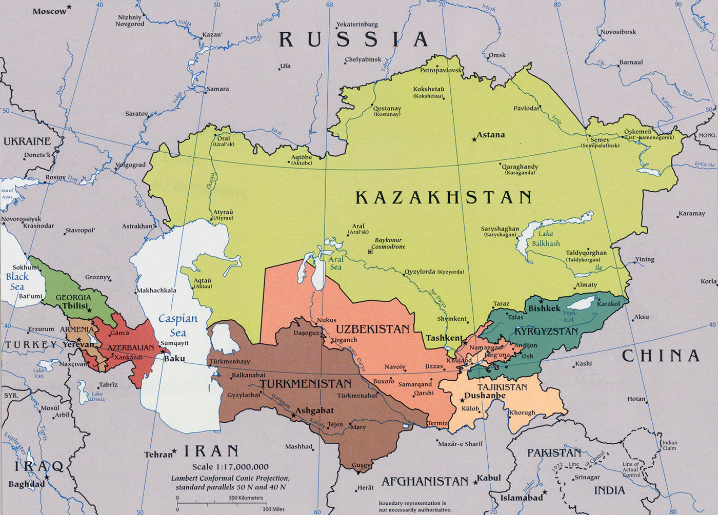 Resultado de imagem para map of the caucasus and central asia