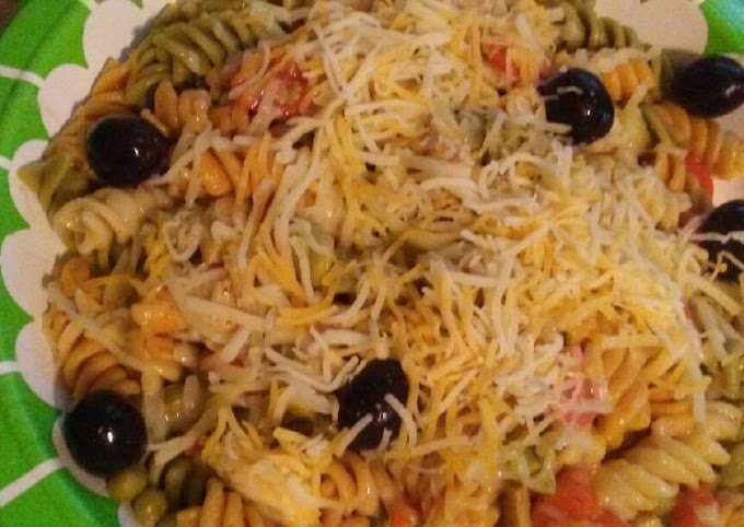 Simple Way to Prepare Any-night-of-the-week Easy Puerto Rican style chicken pasta salad