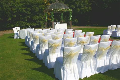 White Pleated Skirt Chair Covers   Elegant Event Essentials