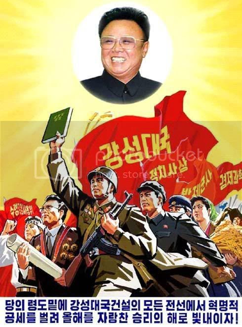 All forward with our Dear Leader the Great General!