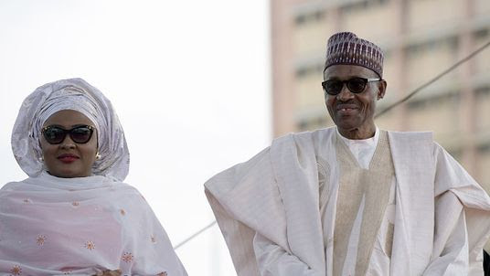 Image result for buhari says wife belongs in kitchen
