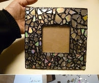 Diy Mosaic Frame From Old Cds Pictures Photos And Images For