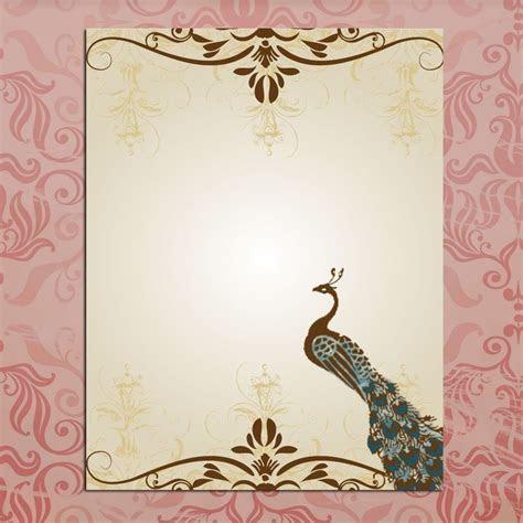 Blank Wedding Invitations Peacock Template   wedding ideas