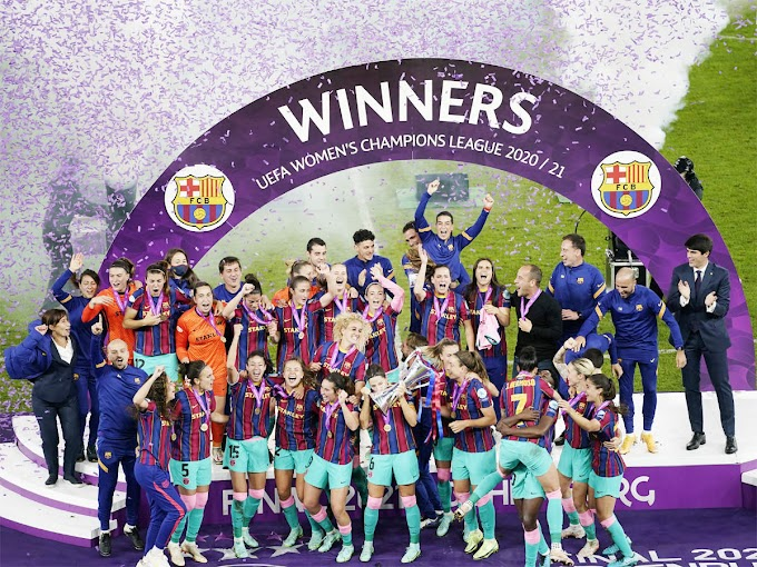 Barcelona thrash Chelsea to win women's CL for first time