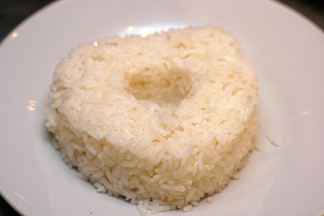 Heart-shaped mound of rice