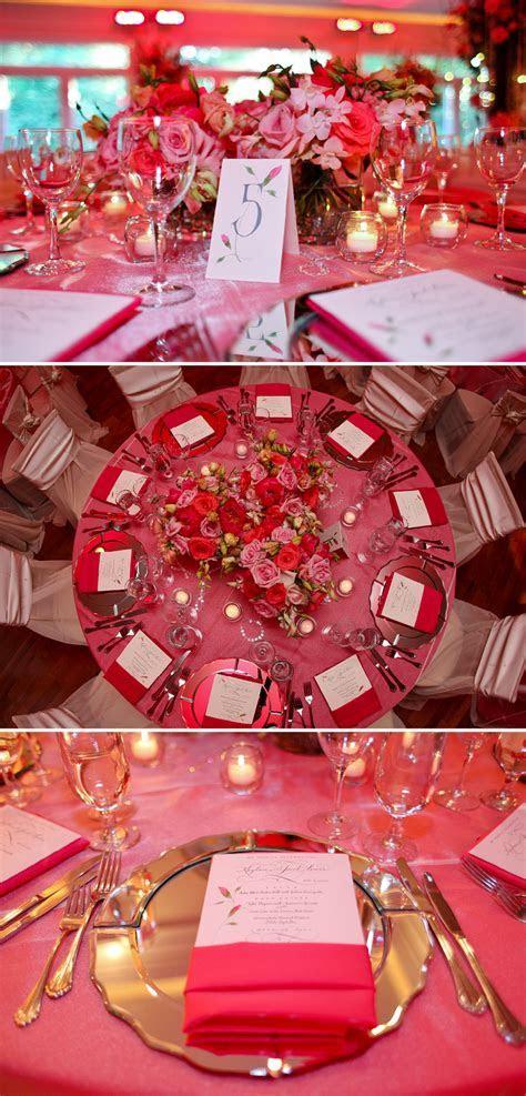 primrose cottage wedding reception pink floral