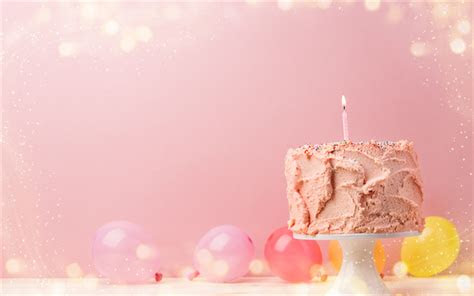 wallpapers happy birthday pink birthday cake