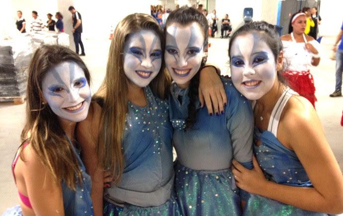 maquiagem ensaio abertura Copa do Mundo estádio (Foto: Felipe Zito)