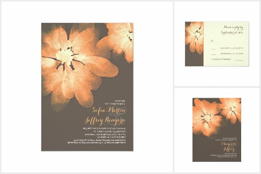 Peach Watercolor Flowers Wedding Collection