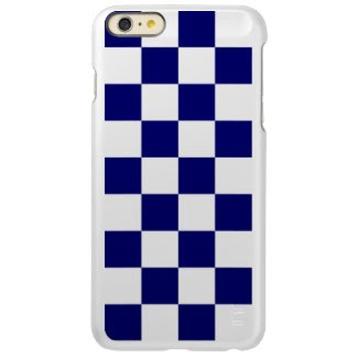 Checkered Navy and White Incipio Feather® Shine iPhone 6 Plus Case