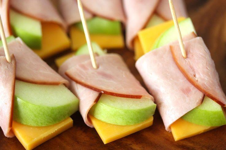 Apple + Cheddar + Ham Rolls
