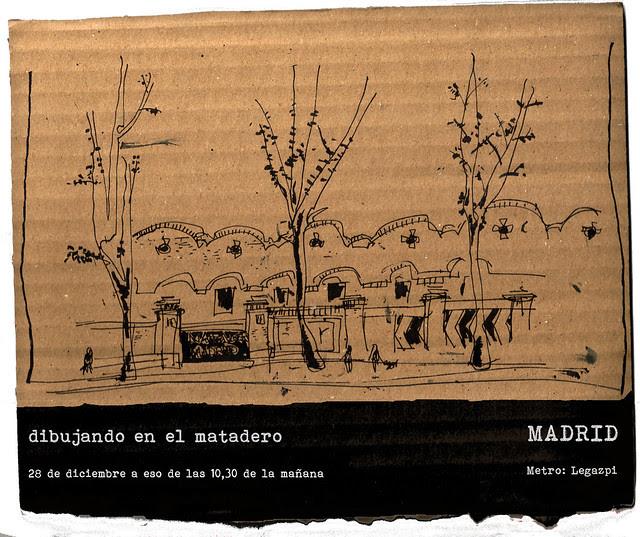 a dibujar a final de año, Madrid