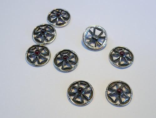 Eight Waistcoat Buttons