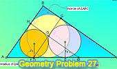 Problema 27: Triángulo rectángulo, Incentro, Paralelas, Inradios.