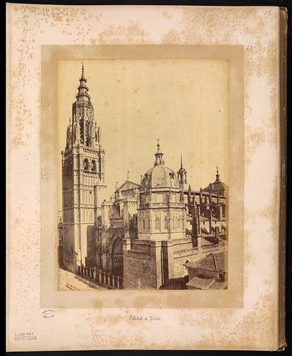 Catedral de Toledo en el siglo XIX. Foto Jean Laurent. Biblioteca Nacional de Brasil