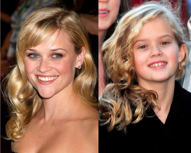 Legally Blonde too: Film star Reese Witherspoon and Ava