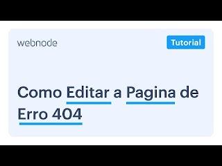 COMO EDITAR A PAGINA DE ERRO 404?