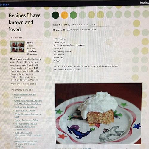 Www.mizbooshay.blogspot.com.  My humble recipe blog.